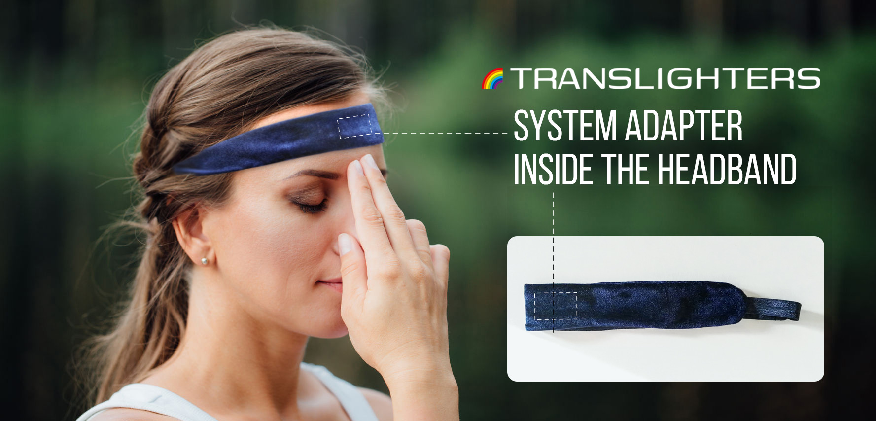 The headband system adapter TRANSLIGHTER EUREKA tailors the system of human knowledge to other knowledge systems. The TRANSLIGHTER EUREKA helps to construct new knowledge, creating conditions for striking effect.